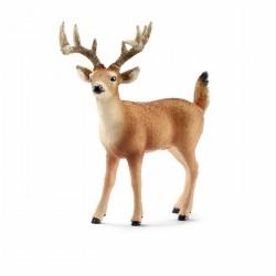 CERVO VIRGINIANO MASCHIO animali in resina SCHLEICH miniature 14709 DEER