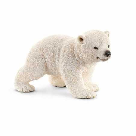 ORSO POLARE animali in resina SCHLEICH miniature 14709 BEAR cucciolo che cammina