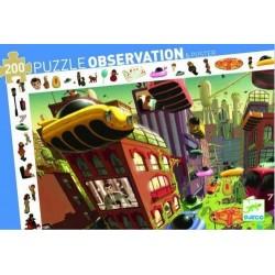 Puzzle scoperta OBSERVATION la città del futuro 200 PEZZI con poster CITY OF FUTURE età 6+