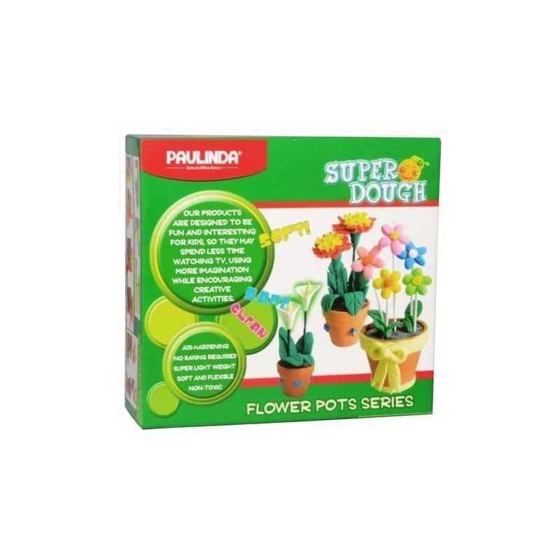 PASTA VASI FIORI Paulinda SUPER DOUGH flower pots PASTA DA MODELLARE età 5+