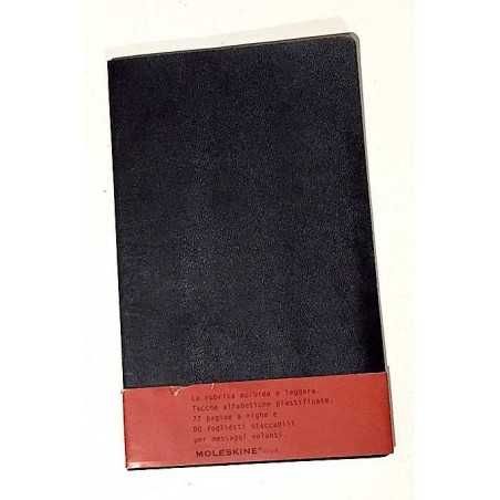 MOLESKINE Volant ADDRESS BOOK large MORBIDA nera RUBRICA 72 pagine a righe