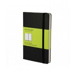 PLAIN notebook POCKET taccuino MOLESKINE pagine bianche NERO con elastico SEGNALIBRO 9 x 14 cm