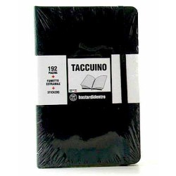 TACCUINO notebook POCKET tascabile BASTARDIDENTRO pagine a righe NERO + fumetto estraibile + stickers BASTARDI DENTRO