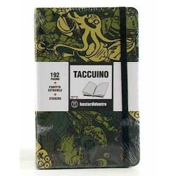TACCUINO notebook POCKET tascabile BASTARDIDENTRO pagine a righe CAMO + fumetto estraibile + stickers BASTARDI DENTRO