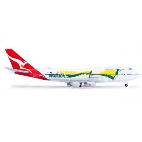 QANTAS BOEING 747-400 GO WALLABIES - 520959 HERPA WINGS 1:500