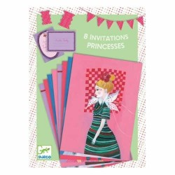 BIGLIETTI D'INVITO E BUSTE 8 invitations des coquettes COMPLEANNO pretty DJECO 4soggetti