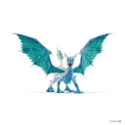 DRAGONE DEI GHIACCI draghi in resina SCHLEICH dragons 70508 drago ICE HUNTER ali orientabili
