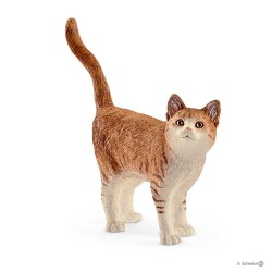 GATTO 2017 animali in resina SCHLEICH Farm Life 13836 nuova edizione CAT bianco rosso