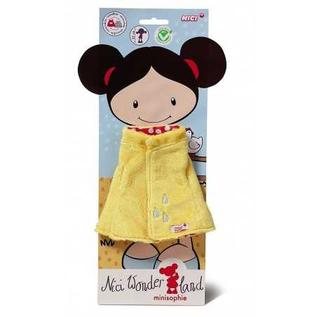 IMPERMEABILE GIALLO per bambola MINISOPHIE alta 30 cm in PELUCHE wonder land NICI età 2+