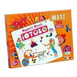 IOTOBO MAXI mosaico magnetico 200 PEZZI costruzioni 3 FORME set di magneti MADE IN FRANCE età 6+