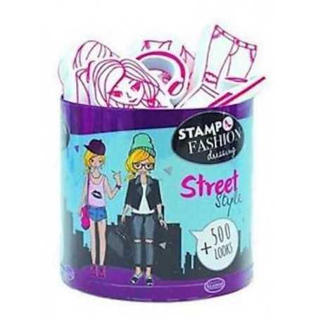 STAMPO FASHION DRESSING stampo minos 28 TIMBRI con tampone STREET STYLE Aladine STAMPINI MODULARI 7+