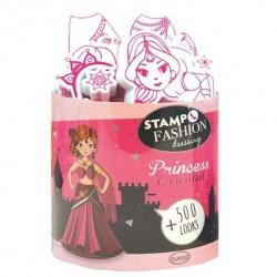 STAMPO FASHION DRESSING stampo minos 15 TIMBRI con tampone ORIENTAL PRINCESS Aladine STAMPINI MODULARI 7+