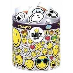 STAMPO SMILEY WORLD stampo minos 38 TIMBRI con tampone SMILE Aladine STAMPINI MODULARI faccine 3+