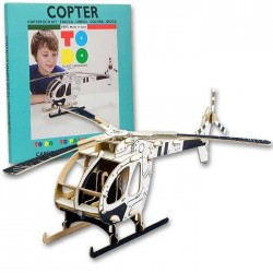 COPTER To Do ELICOTTERO in cartone DA MONTARE e colorare 61 PEZZI kit 100% MADE IN ITALY 5+