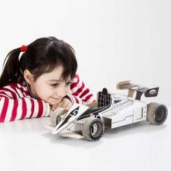 RACER To Do AUTO DA CORSA F1 in cartone DA MONTARE e colorare 98 PEZZI kit 100% MADE IN ITALY 5+