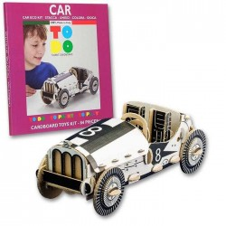 CAR To Do AUTO D'EPOCA in cartone DA MONTARE e colorare 84 PEZZI kit 100% MADE IN ITALY 5+