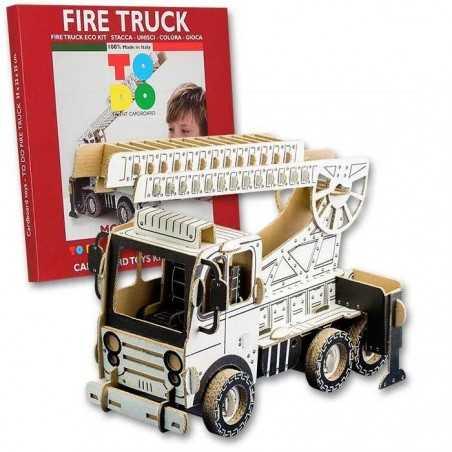 FIRE TRUCK To Do CAMION DEI POMPIERI in cartone DA MONTARE e colorare 133 PEZZI kit 100% MADE IN ITALY 6+