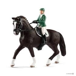 CAVALLERIZZA verde SALTO A OSTACOLI CON CAVALLO Schleich KIT gioco SET farm life 42358 miniature in resina HORSE CLUB età 3+