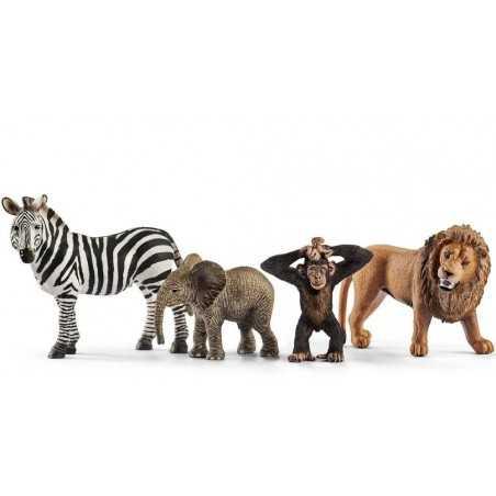 STARTER SET Safari WILD LIFE Schleich KIT gioco 42387 miniature in resina ANIMALI età 3+