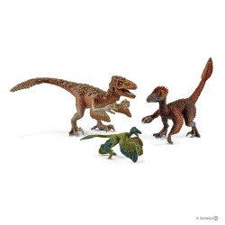 3 RAPTOR PIUMATI velociraptor SET Dinosaurs DINOSAURI Schleich KIT gioco 42345 miniature in resina 5+