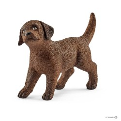 LABRADOR RETRIEVER cucciolo CANE puppy MARRONE Schleich 13835 miniature in resina ANIMALI età 3+
