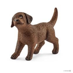 LABRADOR RETRIEVER cucciolo CANE puppy MARRONE Schleich 13835 miniature in resina ANIMALI età 3+