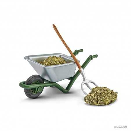 SET PER LA CURA DELLA STALLA forcone carriola fieno KIT Farm World 42290 Schleich ACCESSORI miniature in resina 3+