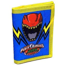PORTAFOGLIO portafogli WALLET Saban's Power Rangers DINO super charge 2017 Seven IT'S MORPHIN TIME
