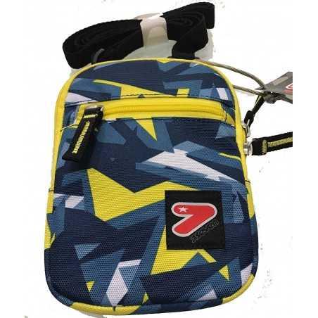 FLAT SHOULDER BAG mini tracolla BORSA tracollina SEVEN bicolore GRIGIO GIALLO borsello ACCESSORI