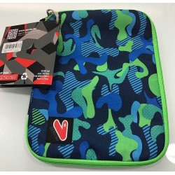 SLEEVE CASE LARGE busta porta tablet CUSTODIA sacca SEVEN bicolore VERDE BLU accessori CON LA ZIP