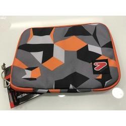 SLEEVE CASE LARGE busta porta tablet CUSTODIA sacca SEVEN bicolore GRIGIO ARANCIO accessori CON LA ZIP