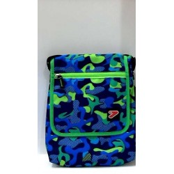 TABLET SHOULDER BAG borsa porta tablet CUSTODIA busta SEVEN bicolore VERDE BLU accessori case TRACOLLA