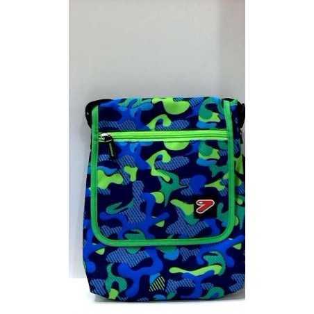 TABLET SHOULDER BAG borsa porta tablet CUSTODIA busta SEVEN bicolore VERDE BLU accessori case TRACOLLA