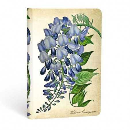 Diario a righe Glicine in fiore mini Paperblanks cm 9,5x14