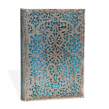 Diario RUBRICA Blu Maya midi Paperblanks cm 13x18 taccuino filigrana argento