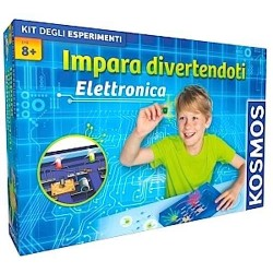 ELETTRONICA kit degli esperimenti IMPARA DIVERTENDOTI Kosmos CIRCUITI ELETTRICI età 8+