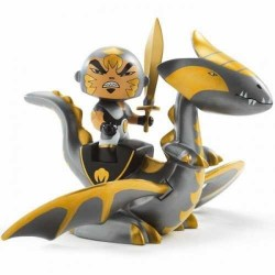 CHROME & INFERNO cavalieri ARTY TOYS action figure DJECO in resina DJ06725 snodabile DRAGO età 4+