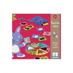 TACTILO LOTO gioco ANIMALI tattile DJECO tombola 18 ANIMALI 6 consistenze DJ08129 età 3+