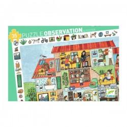 Puzzle scoperta OBSERVATION la casa 35 PEZZI giganti LA MAISON con poster CORNICE età 3+