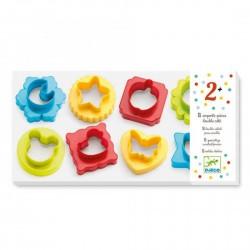 8 STAMPINI DOUBLE FACE in plastica FORMINE kit artistico SET creativo DJECO colorati DJ09757 età 2+