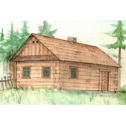 Wooden peasant House