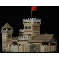 Hölzerne mittelalterliche Burg