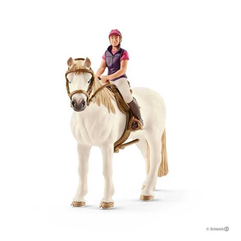 CAVALLERIZZA AMATORIALE CON CAVALLO farm world SCHLEICH cavalli in resina SET 42359 età 3+