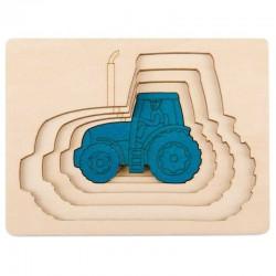 Puzzle in legno TRATTORI 6 pezzi Hape George Luck E6513 età da 2 anni