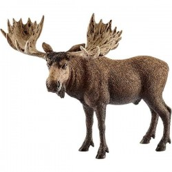 ALCE MASCHIO miniature in resina 2017 animali SCHLEICH wild life 14781 ELK età 3+