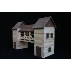 Pont couvert en bois