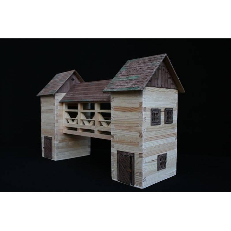 Wooden covered bridge
