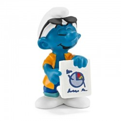PUFFO MARKETING i puffi SMURFS originali SCHLEICH miniature in resina 3+