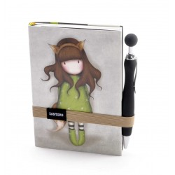 SOFT NOTEBOOK con elastico e penna THE FOX Gorjuss SANTORO 192 pagine 196EC25