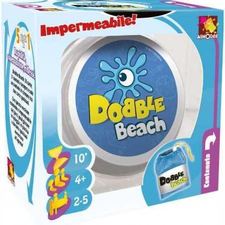 Dobble BEACH party game IMPERMEABILE 30 carte 31 simboli CON CONFEZIONE MORBIDA Asmodee 4+